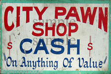 WEATHERED CITY PAWN SHOP BUILDING STORE DIORAMA LAYOUT SIGN DECAL 3x2 DD75