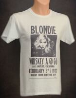 Blondie T Shirt Concert Handbill  Debbie Harry Punk Rock New Wave