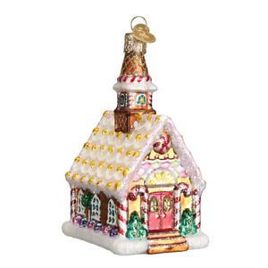 Old World Christmas GINGERBREAD CHURCH (20077)N Ornament w/ OWC Box
