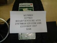 1 NEW KUMHO ROAD VENTURE AT51 275 70 18 125/22R LRE TIRE W LABEL 2177823 Q9