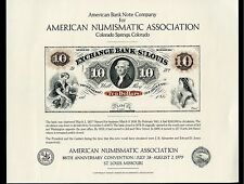AMERICAN BANK NOTE COMPANY ANA  $10 EXCHANGE BANK ST. LOUIS NOTE SHOW  CARD