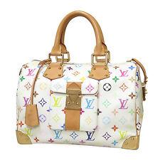 Louis Vuitton Speedy 30 Monogram MultiColore White M92643 Authentic Handbag LV