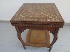 tavolino da gioco intarsiato apribile siriano epoca 800