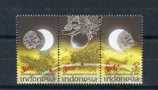 Indonesia 2016 MNH Total Solar Eclipse 3v Se-tenant Set Stamps