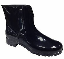 Block Patternless Rubber Boots for Women