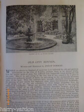 Women Horse Riders Old City Houses Victorian Antique Illustrated Articles 1891