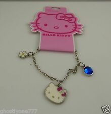 Hello Kitty charm crystal  bracelet flower daisy bow Sanrio