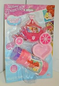 Disney PRINCESS Dip & Blow BUBBLES Imperial Toys Ages 3+ Carriage COLLECT Pink