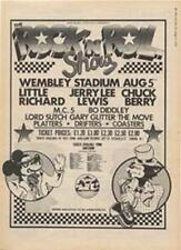 Little Richard Jerry Lee Lewis Chuck Berry MC5 show advert Time Out cutting 1972