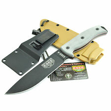 ESEE 1095 High Carbon Fixed Blade Survival Knife Coyote Brown Sheath 6P