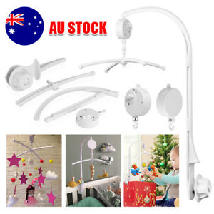 Baby Mobile Cot Crib Musical Wind up Toy Music Box Arm Hanger Nursery DIY Gift