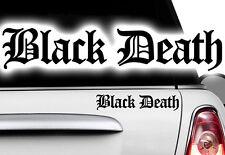 2x Blanco Y Negro Death Pearl Ninja KTM MOTOCICLETAS COCHE Pegatina JDM OEM DUB