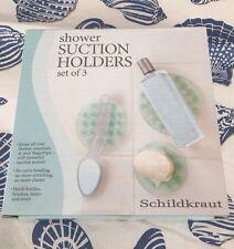 Schildkraut Shower Suction Holders Set Of (3)
