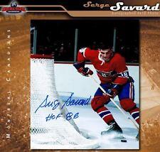SERGE SAVARD Signed & Inscribed Montreal Canadiens 8 x 10 Photo - 70251