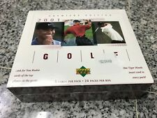 TIGER WOODS RC ROOKIE  2001 UPPER DECK PREMIERE EDITION GOLF 24 PACK BOX SEALED