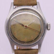 VINTAGE c.1940's Lemania 32.5mm Stainless Steel Mens Watch ORIGINAL Dial S27