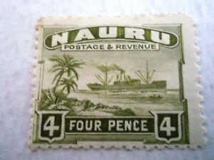 1924/48 Nauru Century (Freighter) 4d Olive.  m/m Mi.24. Z45