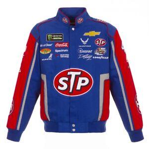 Authentic Bubba Wallace STP Royal Red Uniform Cotton Jacket JH Design