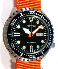 Citizen Promaster Marine Sport Automatic 100M Watch - ORANGE NATO STRAP - NEW