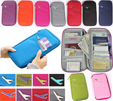Green Color Durable Waterproof Travel Document Wallet Passport Holder Organizer