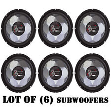"Lot of (6) New Pyramid PW877X 8"" 400 Watt Power Series Subwoofer Sub Car Audio"