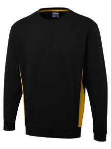 Two Tone Sweatshirt UC217 Black/Yellow Small