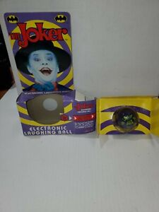 1989 BATMAN THE JOKER ELECTRONIC LAUGHING BALL IN BOX NON WORKING MAYBE FIXABLE