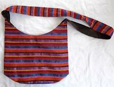 FAIR TRADE BOHO HIPPY ETHNIC FESTIVAL RAINBOW COTTON & SILK SHOULDER BAG MOROCCO