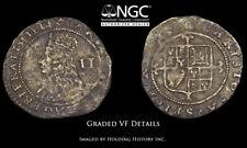 ENGLAND. Charles II, 1660-1662, Silver Halfgroat, NGC VF Details