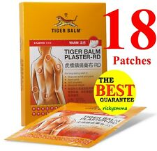 Tiger Balm Plaster - RD Warm -  18 patches 10cm x 14cm New!  (2 x 9 patches)