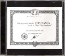 Quincannon - West Point Graduate - CDA - 1999 - Rock