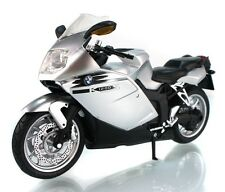 Automax 1:12 BMW K1200S Motorcycle Bike Model Silver New in Box
