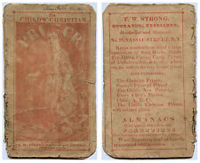 "1840s ""THE CHILD'S CHRISTIAN PRIMER"" PUBLISHED/ENGRAVED BY T.W. STRONG, NEW YORK"