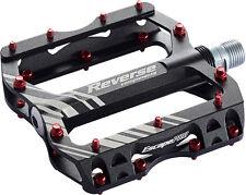 Reverse Escape Pro Schwarz/Rot Plattform Pedal Fahrrad Downhill Flat Neu ovp