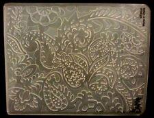 Sizzix grande carpeta de grabación en relieve flores tropicales Paisley se ajusta Cuttlebug 4.5x5.75in
