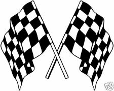 Courses de voitures de rallye stock quadrillés drapeaux autocollants/Stickers