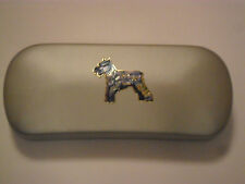Schnauzer dog glasses case great gift for birthday, Mothers day Christmas