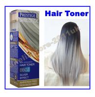 GREY HAIR SILVER EFFECT TONER BB02 DYE BLOND HAIR 100 ml. NO AMMONIA