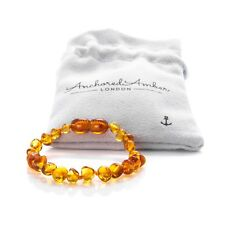 100% Natural Baltic Amber Teething Bracelet, Teething Anklet for Baby/Adult
