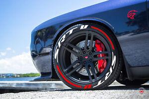 "Permanent Tire Lettering RAISED Stickers SRT STRIPES 16""-22"" FOR4 Tires 1.25""SET"