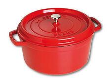 28cm Staub Cookware Cocotte Round 6.7l Cherry Red