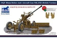 BRONCO CB35111 1/35 OQF 40mm Bofors Anti-aircraft Gun (British Version)
