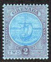 Grenada1908 blue/purple 2/- multi-crown CA perf 14 mint SG87