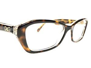 Dolce & Gabbana DG3168 2738 Womens Tortoise Gold Glitter Rx Eyeglasses Frames 53
