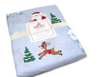 Pottery Barn Kids Santa Rudolph Red Nose Reindeer Cotton Twin Duvet Cover New