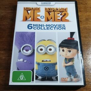 Despicable Me 1 + 2 DVD R4 Like New! FREE POST