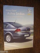 Opel Astra Sedan Prospekt /Depliant / Brochure, Polen