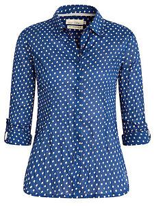 New Seasalt Larissa Shirts Top Blouse Tunic Painted Puffin - Paint Box RRP £45