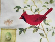 Flour Sack Towel Alice's Cottage Cardinal NC State Bird 100% cotton made in USA