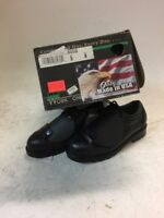 Mens Black Safety Toe I Met Metatarsal Guard Shoes Size 6W USA Work One Leather